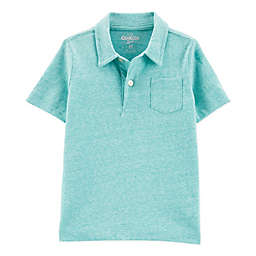 OshKosh B'gosh® Polo Bodysuit in Teal