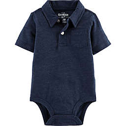 OshKosh B'gosh® Polo Bodysuit in Navy