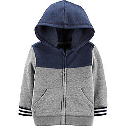 OshKosh B'gosh® Colorblock Hoodie in Grey/Navy