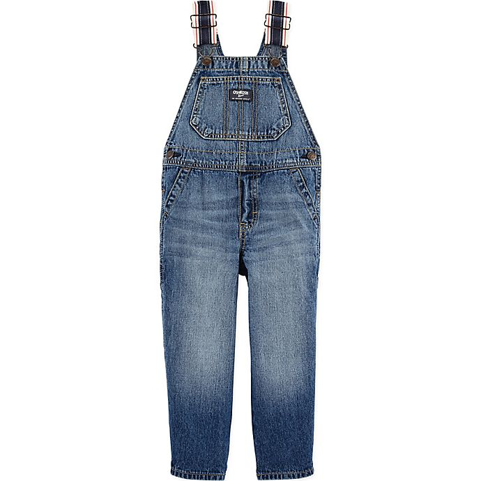 Alternate image 1 for OshKosh B'gosh® Bright Ocean Dark Wash Denim Overall