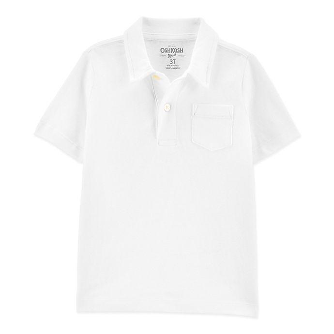 Alternate image 1 for OshKosh B'gosh® Size 2T Polo Shirt in White
