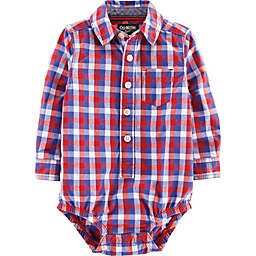 OshKosh B'gosh® Checkered Woven Bodysuit in Red