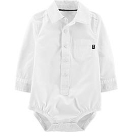 OshKosh B'gosh® Button-Front Bodysuit in White