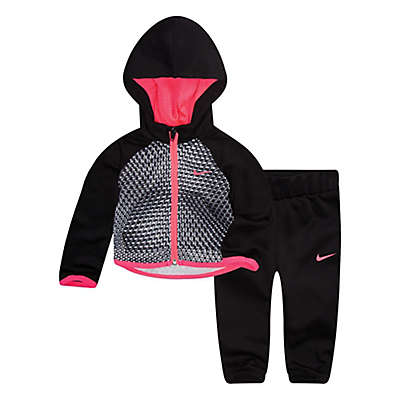 Nike® 2-Piece Therma-FIT Hoodie and Pant Set in Black
