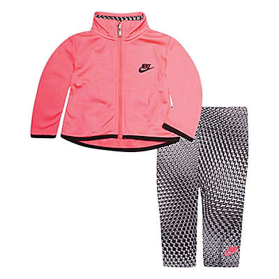 Nike® 2-Piece Tricot Jacket and Legging Set in Pink