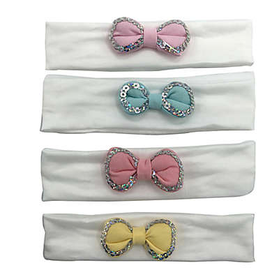 Curls & Pearls 4-Pack Puffy Bow Headbands