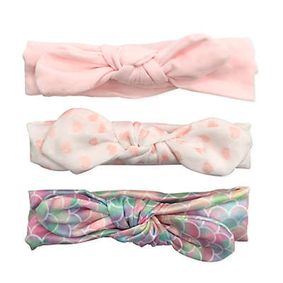 Curls & Pearls 3-Pack Mermaid Headbands in Pink