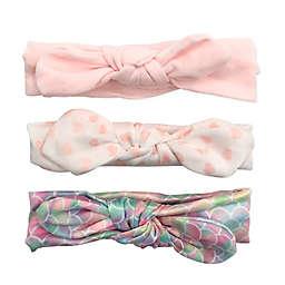 Curls & Pearls 3-Pack Mermaid Headbands in Pink