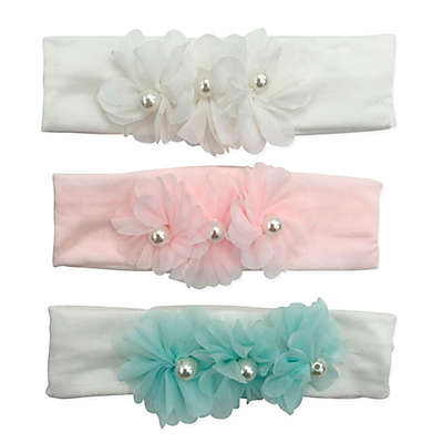 Curls & Pearls 3-Pack Pearl Flowers Headbands