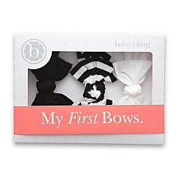 Baby Bling 3-Pack Bow Headbands in Black/White