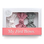 Baby Bling 3-Pack Bow Headbands in Mauve/Grey/Pink