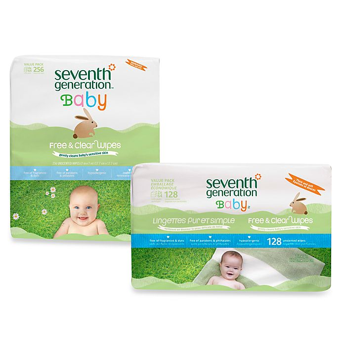 Alternate image 1 for Seventh Generation™ Free & Clear Baby Wipes