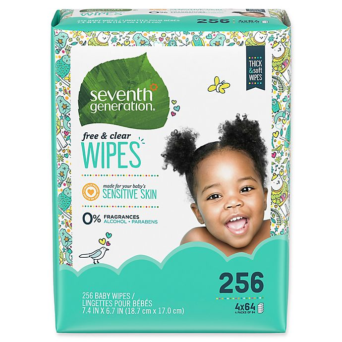 Alternate image 1 for Seventh Generation™ Free & Clear Baby Wipes (256-Count)