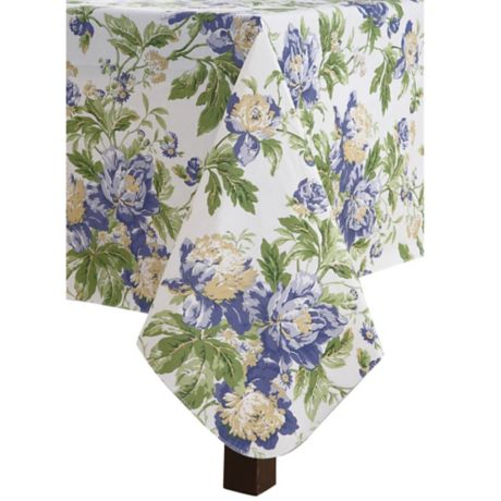 Waverly Alexis Indoor Outdoor Tablecloth Bed Bath Amp Beyond