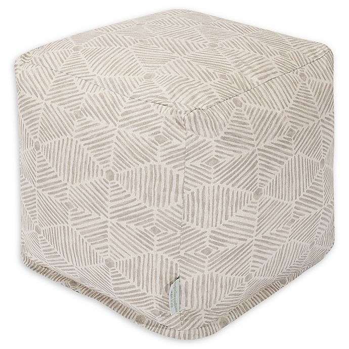 Alternate image 1 for Majestic Home Goods™ Cotton Charlie Ottoman in Beige