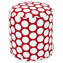 Majestic Home Goods™ Polka Dot Ottoman Pouf