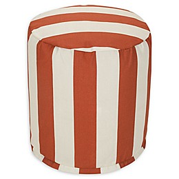 Majestic Home Goods™ Vertical Stripe Indoor/Outdoor Ottoman Pouf