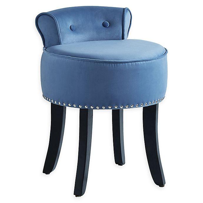 Alternate image 1 for Inspired Home Velvet Delia Chair