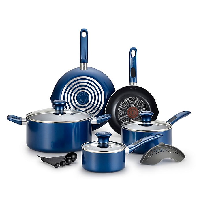 Alternate image 1 for T-Fal® Excite 14-Piece Cookware Set in Blue
