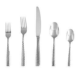Fortessa® Lucca Faceted 5-Piece Flatware Place Setting