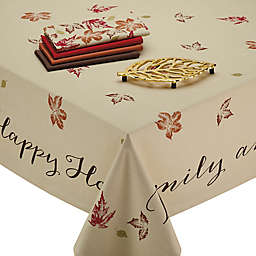 Design Imports Rustic Leaves Table Linen Collection