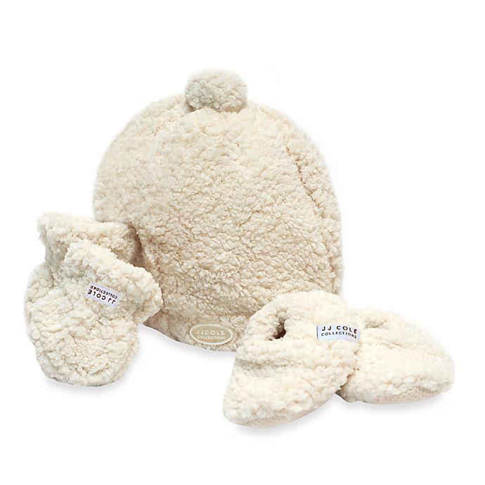Alternate image 1 for JJ Cole® Bundleme Hat, Mitten & Booties Set