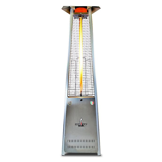 Alternate image 1 for Lava Heat Italia® Lavalite A-Line 56,000 BTU Natural Gas Patio Heater in Stainless Steel