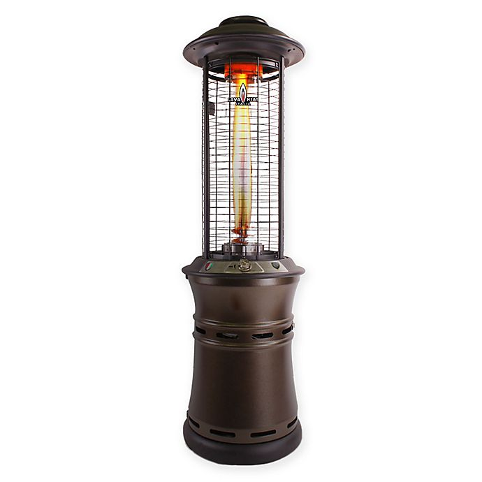 Alternate image 1 for Lava Heat Italia® R-Line Collapsible Commercial Gas Patio Heater in Heritage Bronze