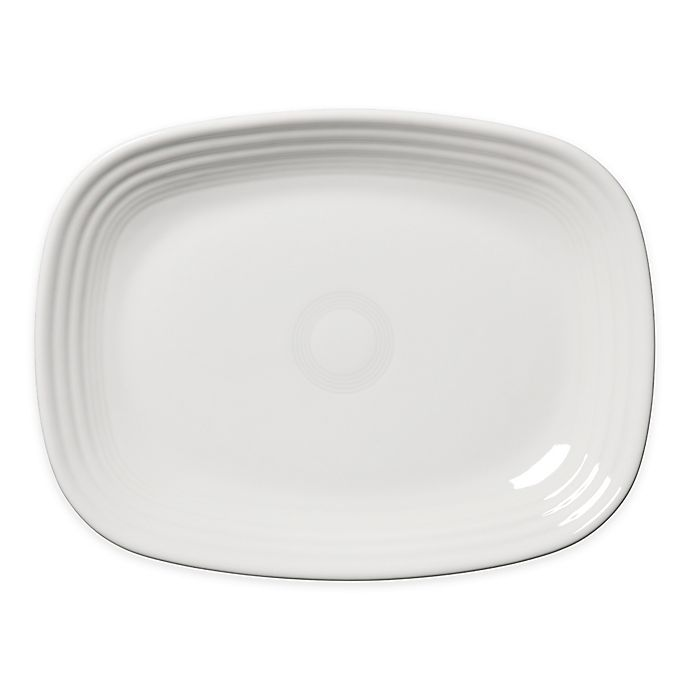 Alternate image 1 for Fiesta® 12-Inch Rectangular Platter in White