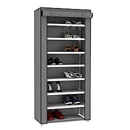 Sunbeam® 8-Tier Covered Shoe Rack in Grey
