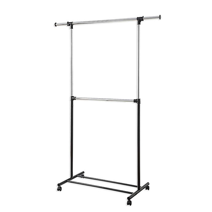 Alternate image 1 for 2-Tier Garment Rack in Chrome/Black