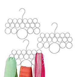 iDesign® 3-Pack Closet Scarf Organizer in Silver