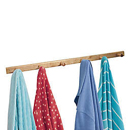 iDesign® 6-Peg Wood Wall Rack