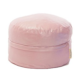 Mimish Covered Zipper Metallic Storage Pouf