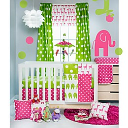 Glenna Jean Ellie & Stretch 3-Piece Crib Bedding Set in Pink/Green