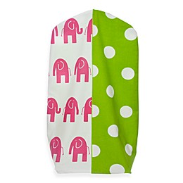 Glenna Jean Ellie & Stretch Diaper Stacker in Pink/Green