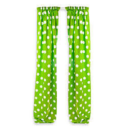 Glenna Jean Ellie & Stretch Lined Window Panel Pair in Green