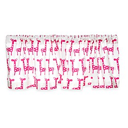 Glenna Jean Ellie & Stretch Giraffe Window Valance in Pink