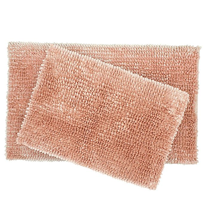 Alternate image 1 for Laura Ashley® Butter Chenille Bath Rugs (Set of 2)