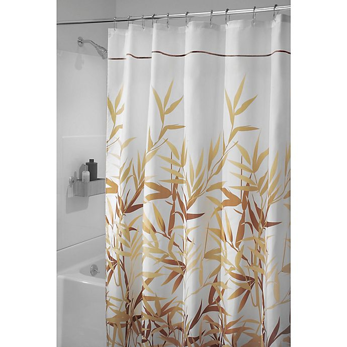 Alternate image 1 for iDesign® Anzu 72-Inch x 84-Inch Shower Curtain in Brown