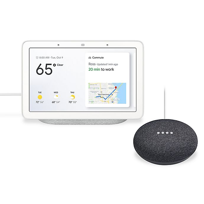 Google Nest Hub with Bonus Google Home Mini Bundle | buybuy BABY