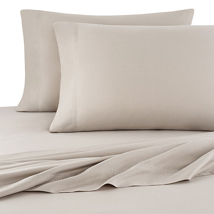 Alternate image 1 for UGG® 300-Thread-Count Cotton Garment Washed Twin Sheet Set in Oatmeal