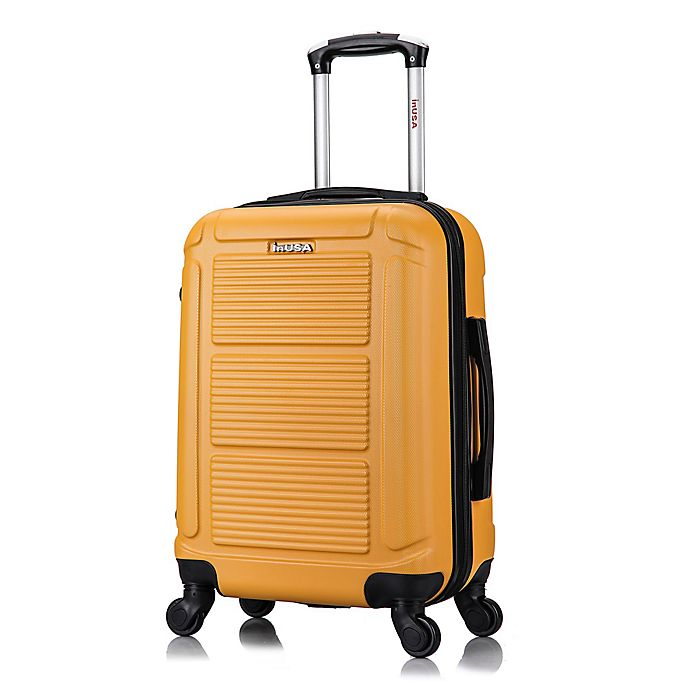 Alternate image 1 for InUSA Pilot 20-Inch Hardside Spinner Carry On Luggage in Mustard