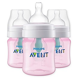 Philips Avent 3-Pack 4 fl. oz. Anti-Colic Wide-Neck Bottles with Insert