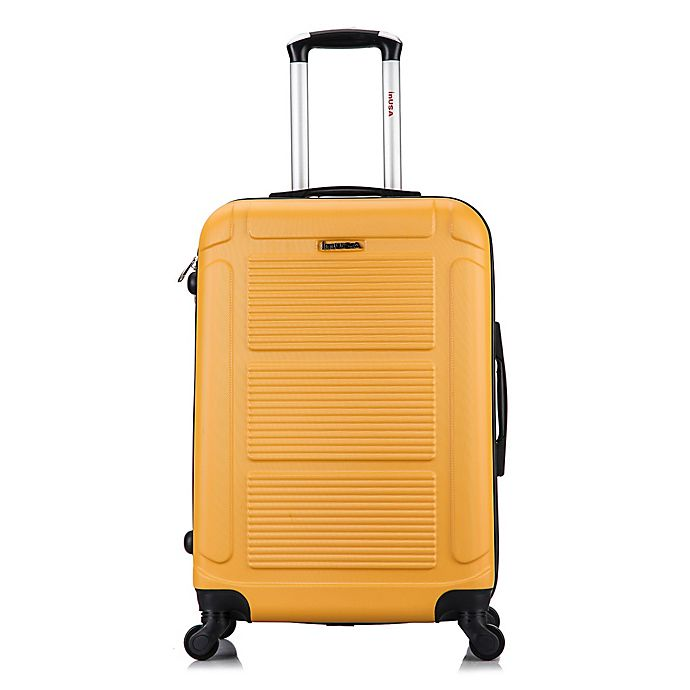 Alternate image 1 for InUSA Pilot 24-Inch Hardside Spinner Checked Luggage in Mustard
