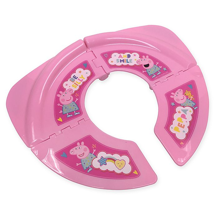 Alternate image 1 for Nickelodeon™ Peppa Pig Folding Travel Potty Seat with Storage Bag