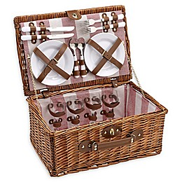 Over & Back Peconic Picnic Basket for 4 in Brown