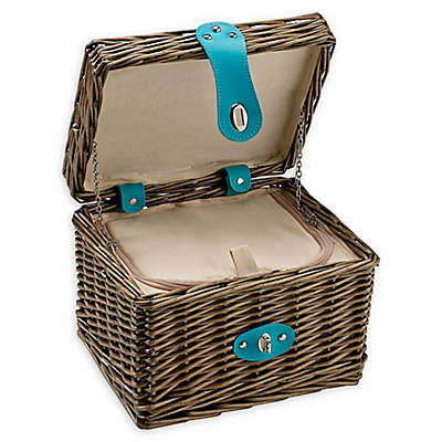 Over & Back Elizabeth Insulated Picnic Basket in Brown