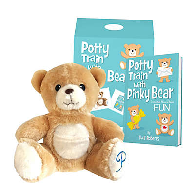 """""""Potty Train with Pinky Bear"""" Book with Bear Plush Toy"""