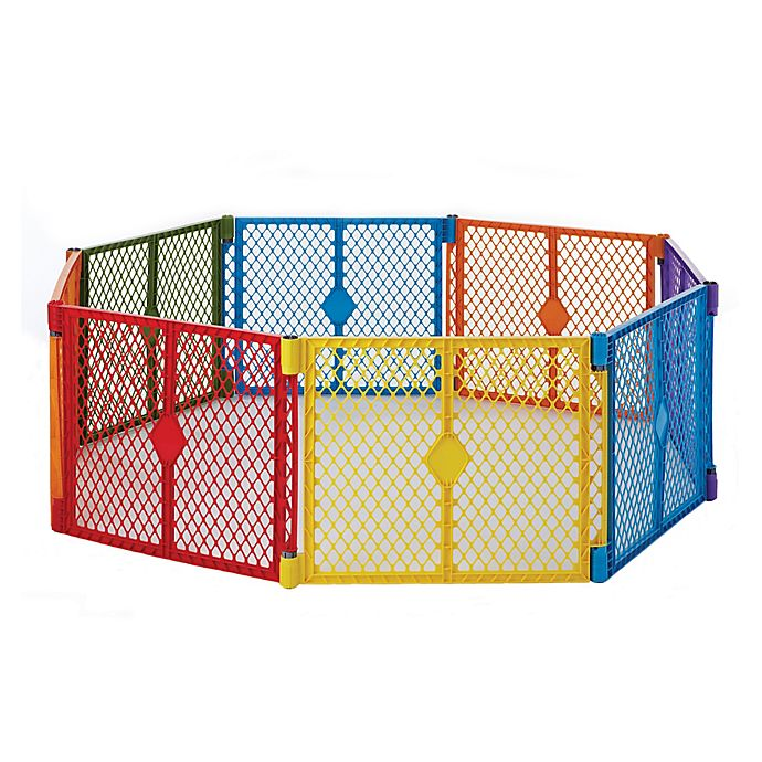 Alternate image 1 for Toddleroo by North States® 8-Panel Superyard Colorplay®